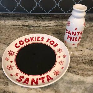 Santa's cookie and milk set